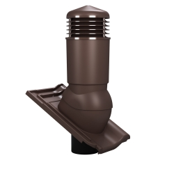 KOMINEK do dachówki betonowej lub ceramicznej karpiówka fi 125 mm ocieplony
